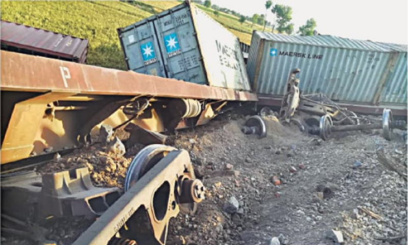 The train was on its way to Quetta from Zahedan when it met with the accident in the Laghap area, apparently owing to a dilapidated track. — Dawn/File