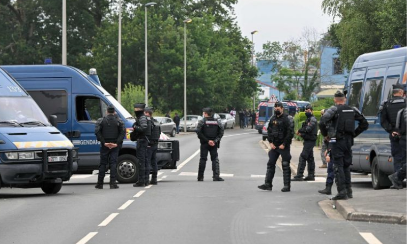 Police fired teargas to disperse the crowd, who defied an 11pm coronavirus curfew on Friday and just stayed on into Saturday afternoon at a race course near Redon in Brittany. — AFP