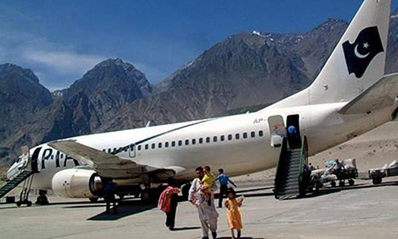 PIA will operate a one-weekly Air Safari flight for Skardu from Islamabad during the flight the tourists will see 13 places and its one-way fare will be Rs25,000. — Dawn/File