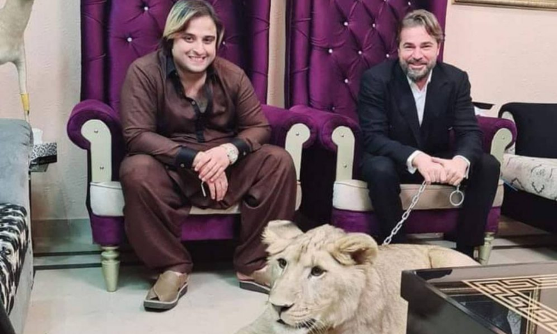 This file photo shows TikToker Kashif Zameer Chaudhry (L) and Turkish actor Engin Altan Duzyatan (R).— Photo courtesy of The Current