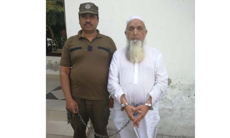 Mufti Azizur Rehman was arrested during a raid by the Crime Investigation Agency in Mianwali. — Photo by author