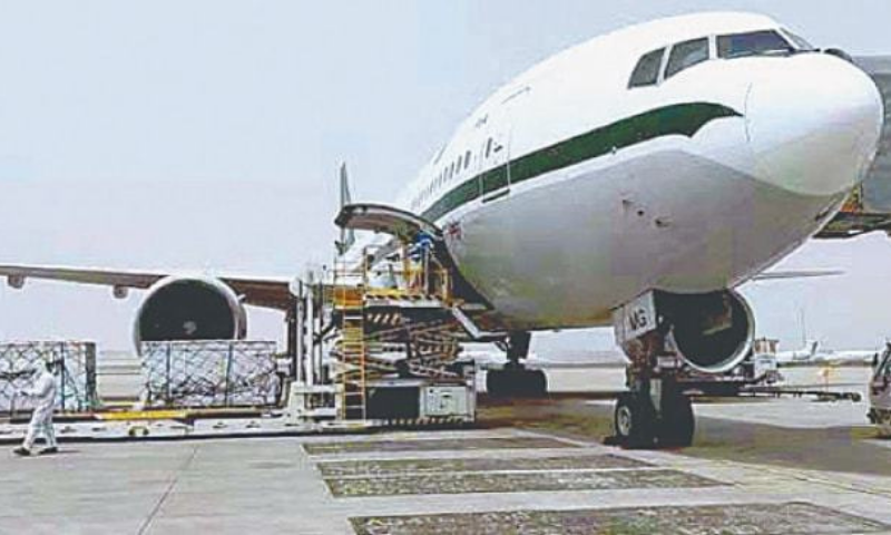 In this file photo, a batch of doses of Sinovac vaccine is being loaded onto a special PIA flight at the airport in Beijing. — APP