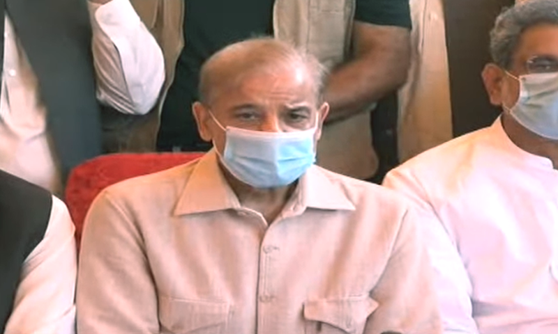 PML-N president and Leader of the Opposition in the National Assembly Shehbaz Sharif asked the government to stop playing with the lives of people and make arrangements for immediate supply of vaccines. — DawnNewsTV/File