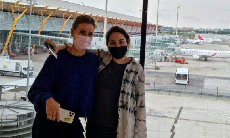 Sheikha Latifa, daughter of the ruler of Dubai, is seen at the Adolfo Suarez Madrid-Barajas Airport terminal in Madrid, Spain, in this undated picture obtained from social media. — Reuters