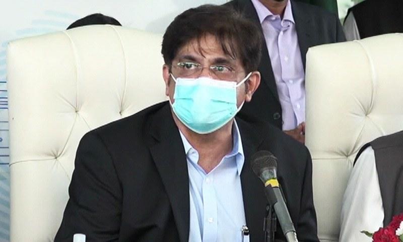 وزیراعلیٰ سندھ نے کہا کہ بدقسمتی سے پاکستان میں ویکسین کی کمی ہوگئی ہے—فوٹو: ڈان نیوز