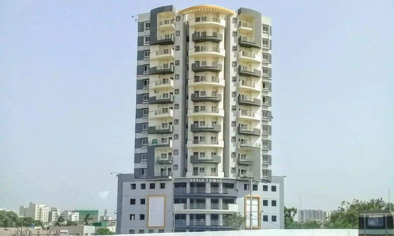 A view of the Nasla Tower in Karachi. — Online/File