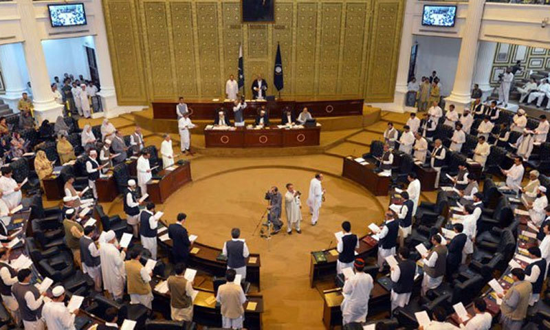 The house continued the debate on the 2021-22 budget for the second consecutive day with Speaker Mushtaq Ahmad Ghani in the chair. — AFP/File