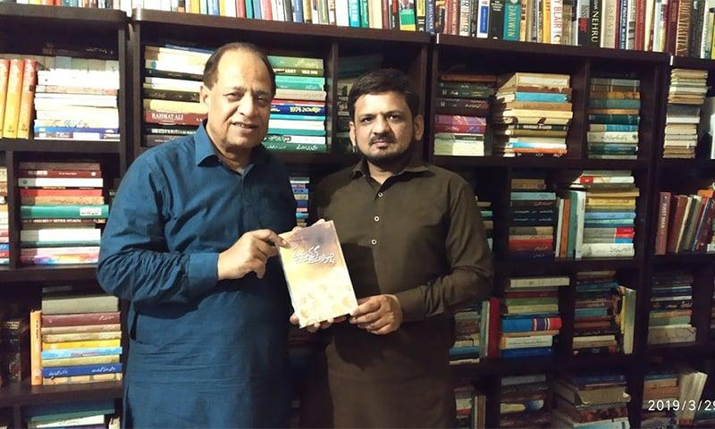 لکھاری ڈاکٹر طاہر مسعود کے ساتھ