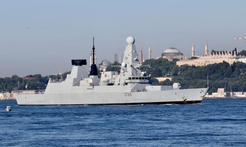 British Royal Navy's Type 45 destroyer HMS Defender arrives for a port visit in Istanbul, Turkey, June 9. — Reuters