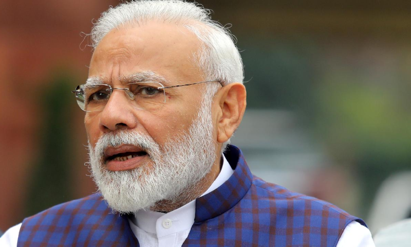 India's Prime Minister Narendra Modi speaks to the media inside the parliament premises on the first day of the winter session in New Delhi, India, November 18, 2019. — Reuters/File
