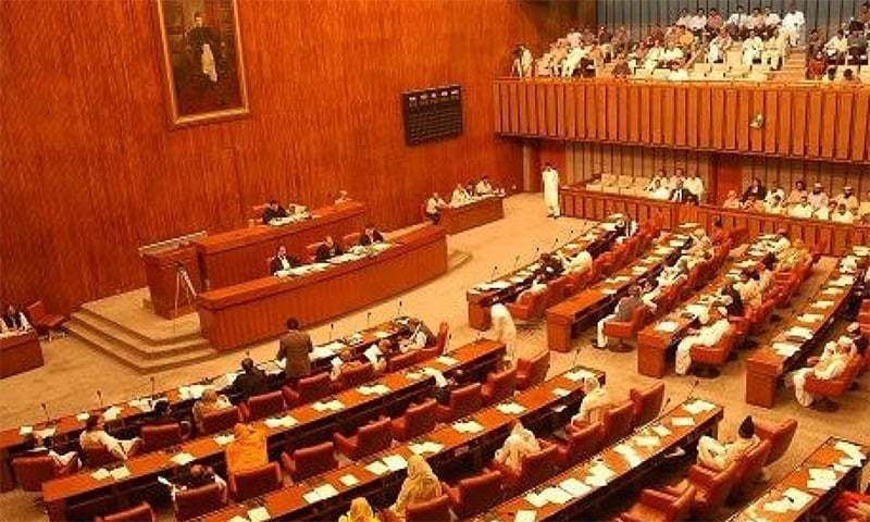 The Senate on Wednesday witnessed a war of words between the treasury and the opposition members over the 'plan to conditionally give up nuclear deterrence'.— APP/File