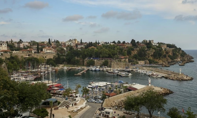 A general view of the old harbour, in Antalya, southern Turkey, June 21. — AP
