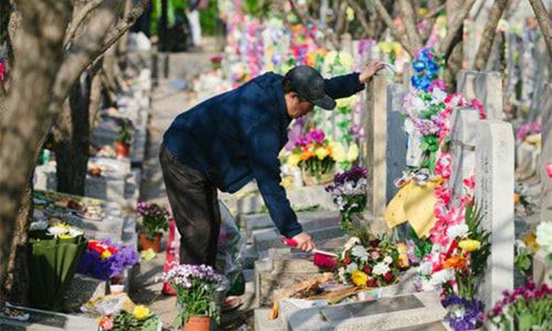 چھنگ منگ تہوار کو منانے کا مقصد اپنے بچھڑے ہوئے پیاروں کو یاد کرنا اور ان کی قبروں کی صفائی کرنا ہے—گلوبل ٹائمز