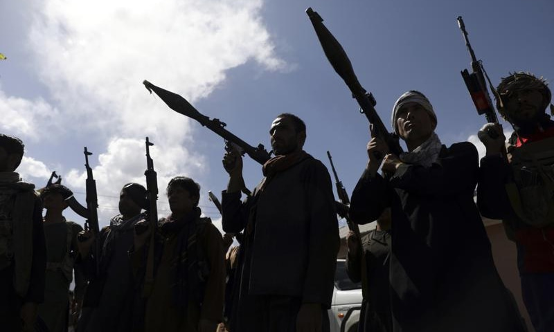 Afghan militiamen join Afghan defence and security forces during a gathering in Kabul, Afghanistan on June 23, 2021. — AP