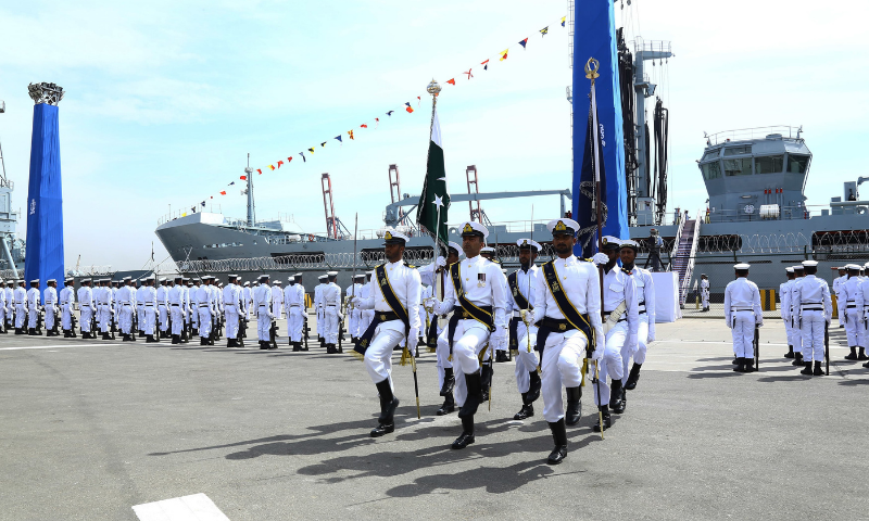 No Pakistani ship would take part in the activities, an official said. — Photo courtesy Pakistan Navy/File