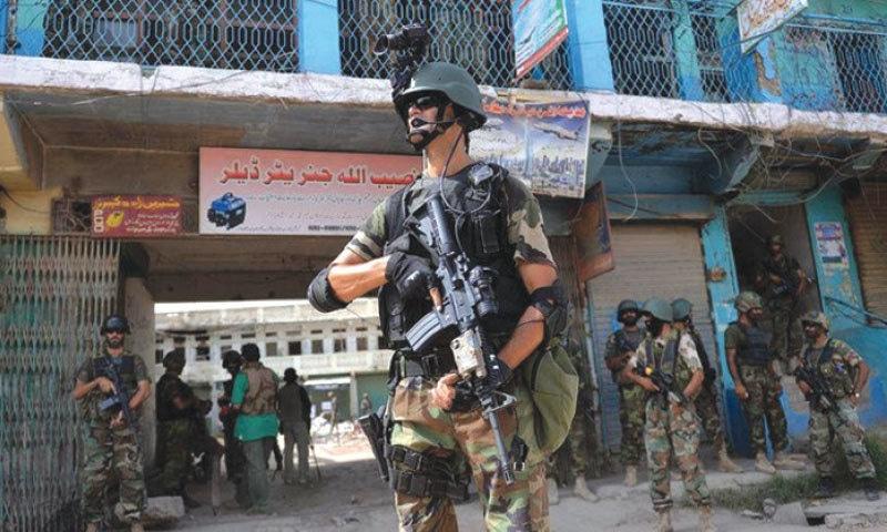 A Pakistani soldier on patrol in Waziristan | AFP