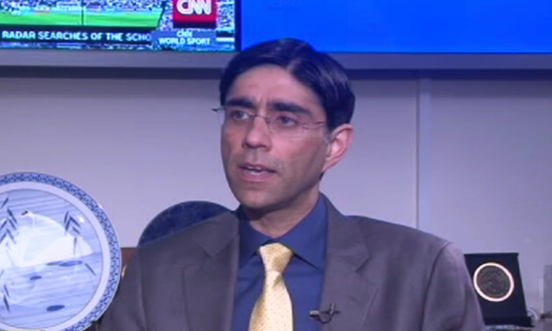National Security Adviser Dr Moeed Yusuf in conversation with Adil Shahzeb on DawnNewsTV.