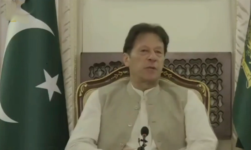 Prime Minister Imran Khan talks about the relationship between Pakistan and China in an interview with English-language state broadcaster China Global Television Network (CGTN). — Screengrab