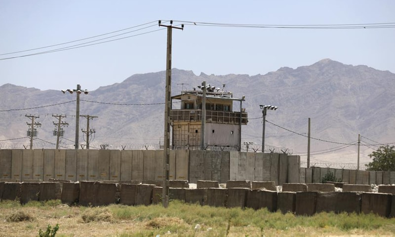 In this June 25, 2021, file photo, a wall surrounds Bagram Air Base in Afghanistan. — AP/File