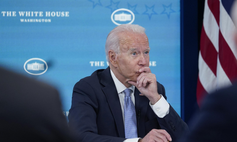 United States President Joe Biden listens during an event in the South Court Auditorium on the White House complex in Washington on June 30. — AP/File
