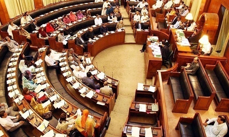 """The PTI lawmakers boycotted the assembly sitting and did not turn up in protest against suspension of their eight members by the speaker for """"violation"""" of the assembly's sanctity. — APP/File"""