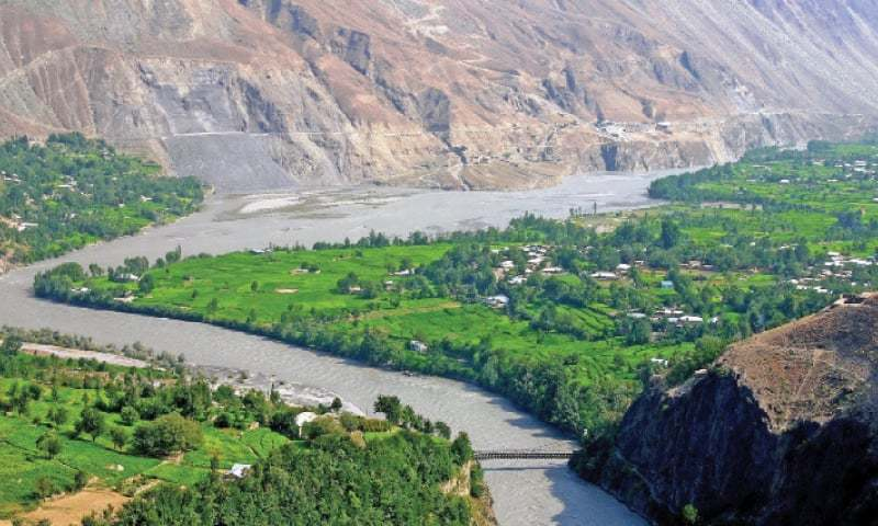 A scenic view of Ayun Valley, Chitral. — Dawn