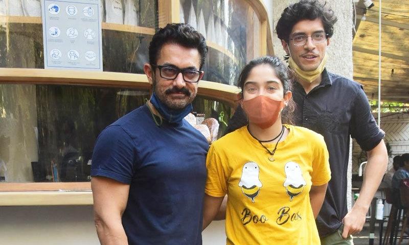 عامر خان کے پہلی اہلیہ سے بیٹا اور بیٹی ہیں—فائل فوٹو: انسٹاگرام