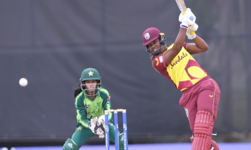 Play had to be stopped upon the completion of the 18th over with Pakistan Women on 103-6 in the pursuit of 126-run target after they had slumped to 25-3. — Photo courtesy PCB