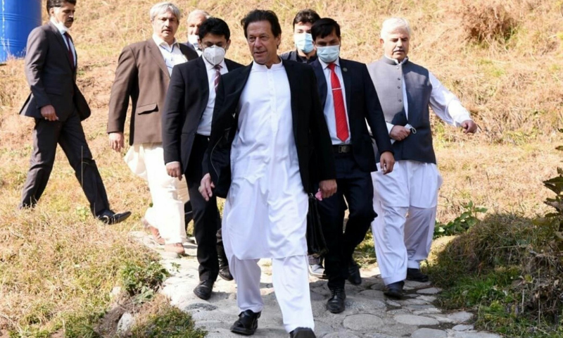 In this file photo, Prime Minister Imran Khan visits Gabin Jabba, Swat. — PID/File