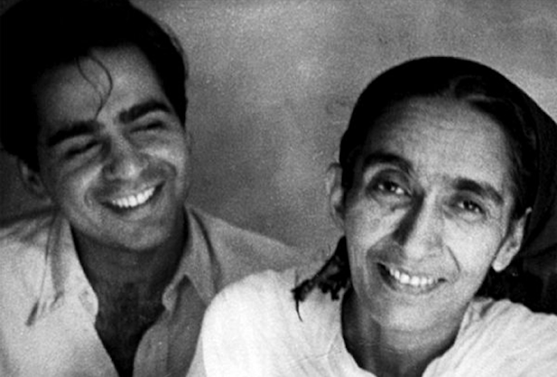 Dilip Kumar with his mother Ayesha. — Dilip Kumar The Substance and the Shadow, Hay House India, Hay House India.