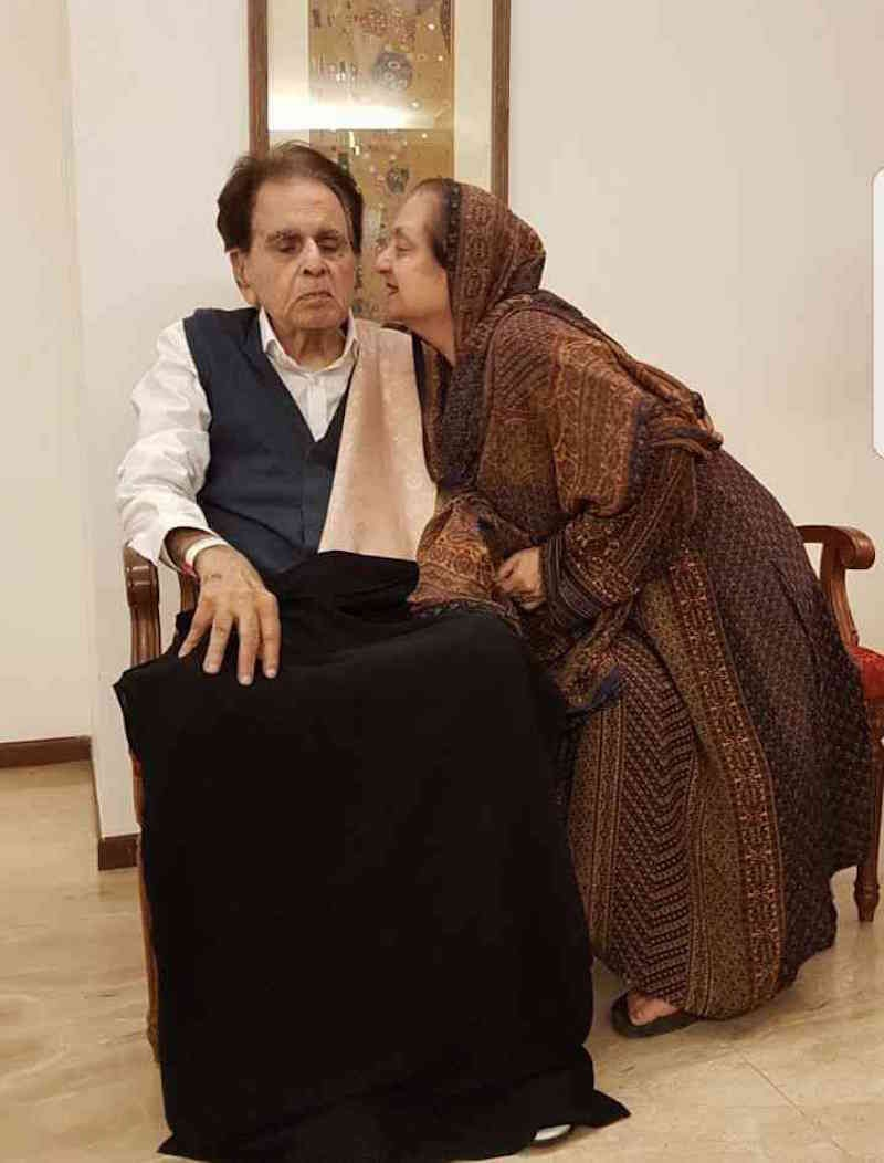 Dilip Kumar and Saira Banu. — Twitter