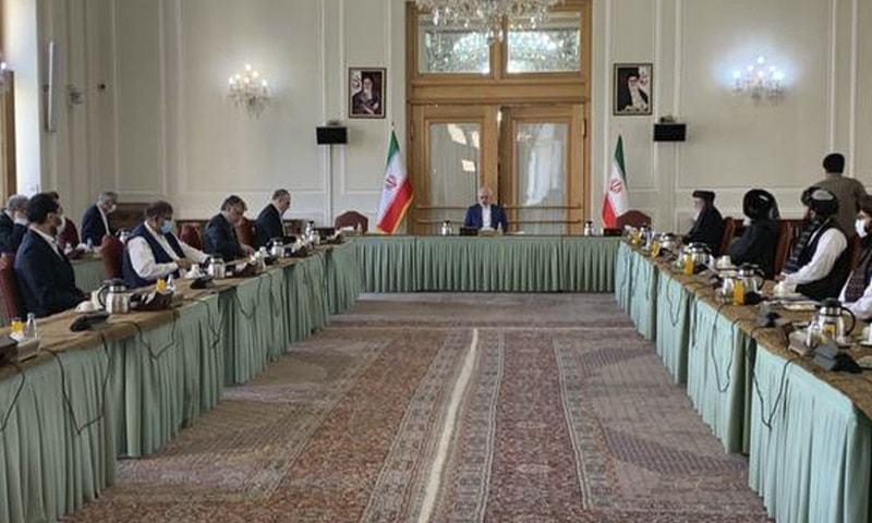 افغان حکام اور طالبان عہدیداروں کی ایران میں ملاقات