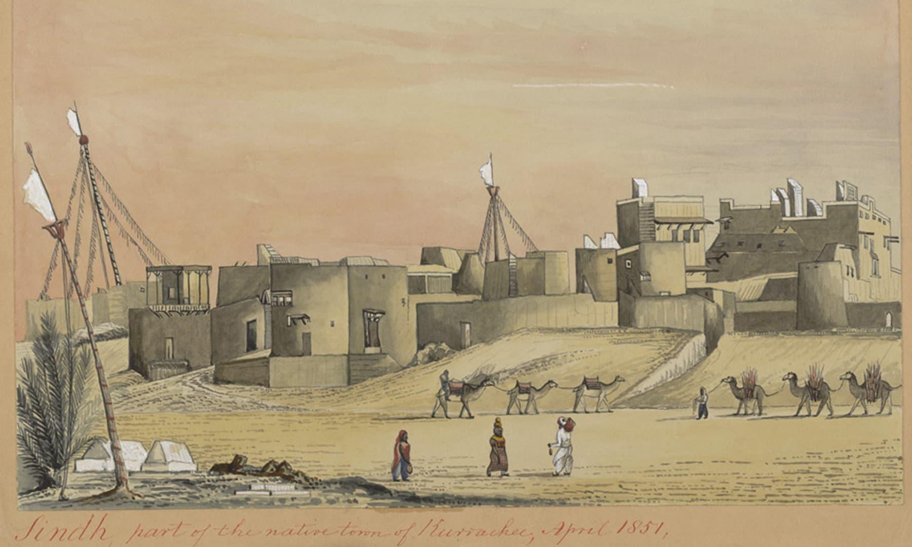1857ء میں کراچی کا ایک علاقہ