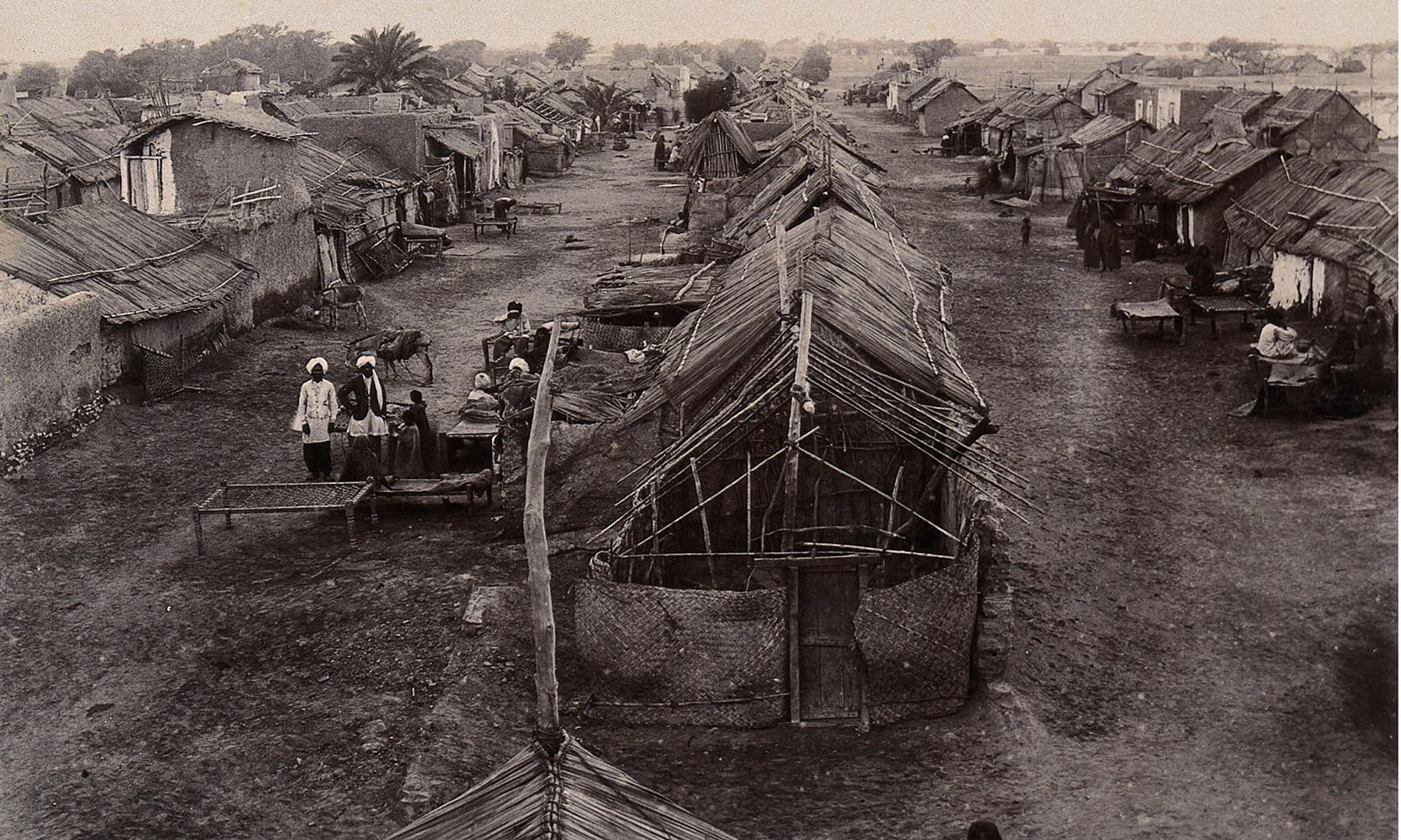 کراچی میں واقع ماہی گیروں کی بستی (1897ء)