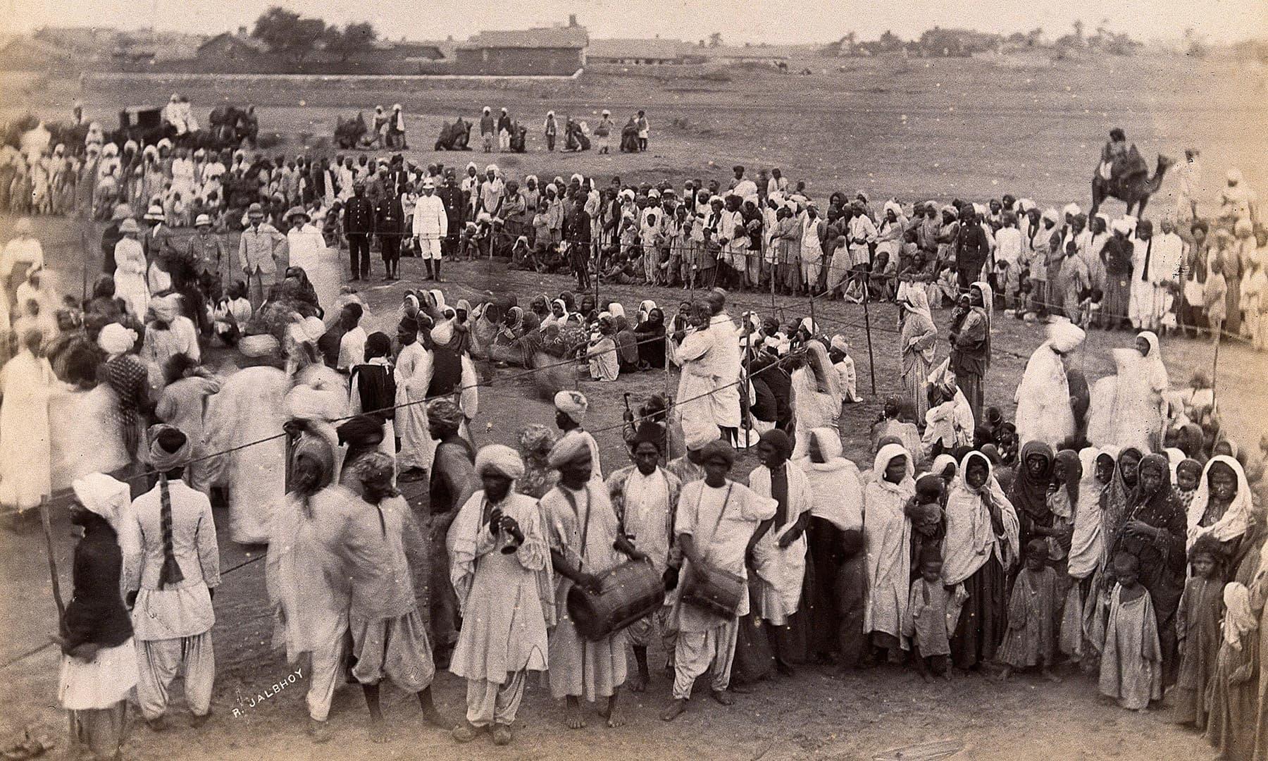 1897ء میں کراچی کی ایک بستی کا منظر