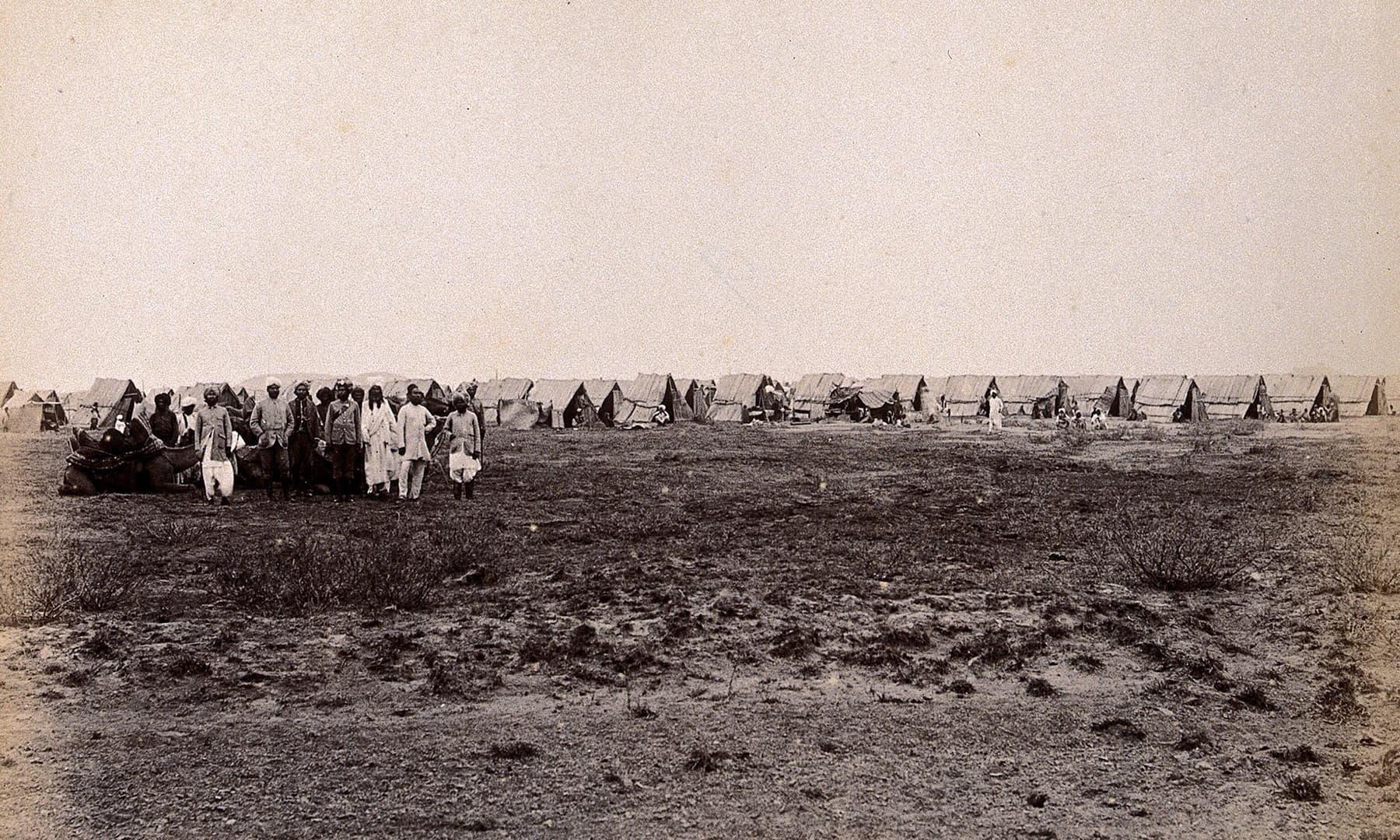 1897ء میں کراچی کے ایک علاقے کا منظر