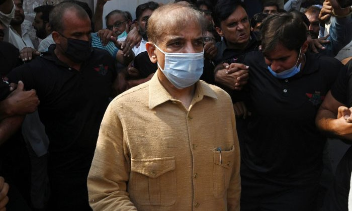 In this Sept 2020 file photo, PML-N president Shehbaz Sharif leaves the Lahore High Court after the hearing of his bail petition. — AFP/File