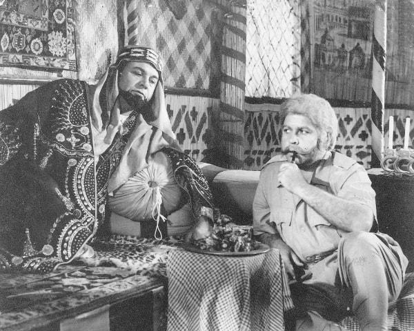 Agha Talish (right) in Shaheed (1962) - Photos courtesy Guddu Film Archive