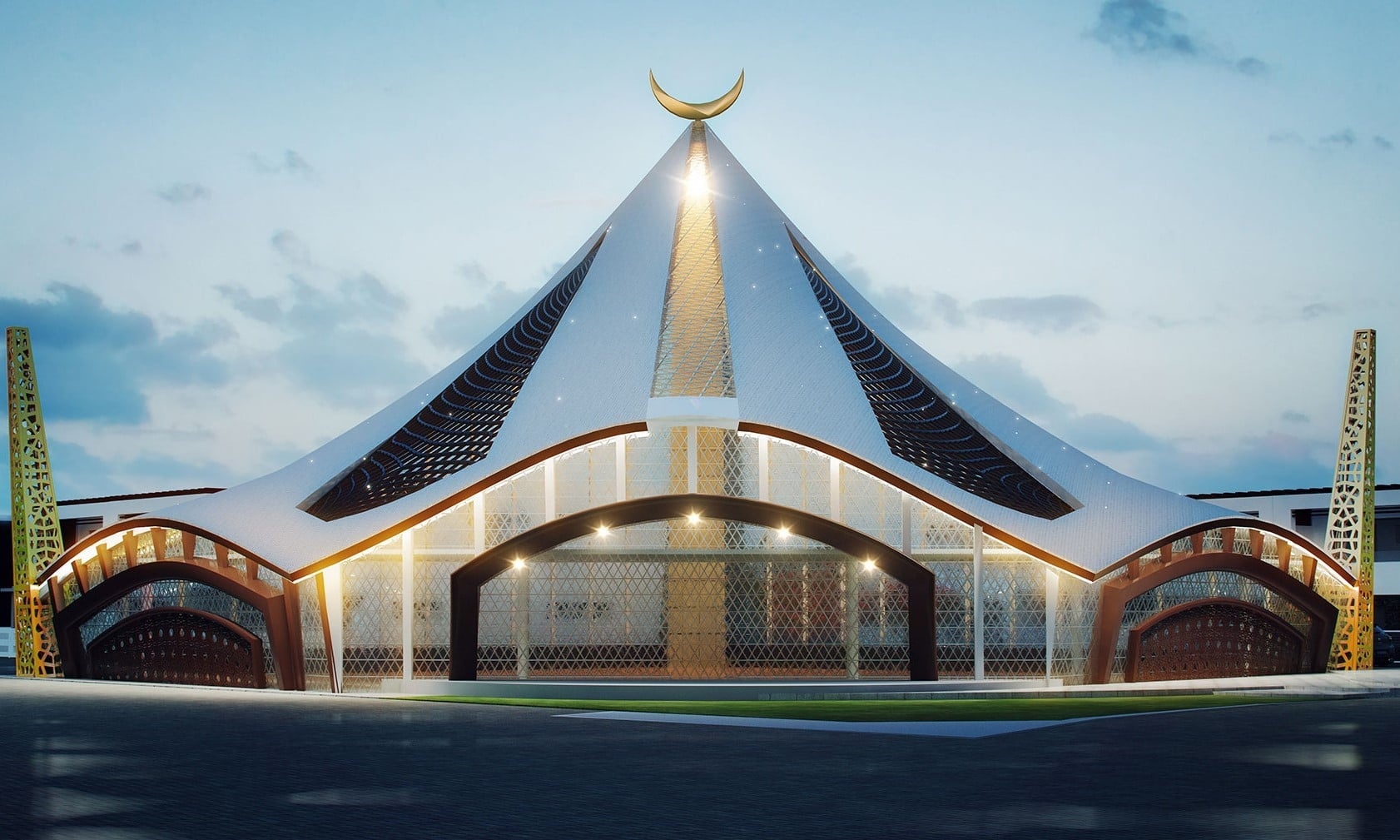 The mosque at Al-Noor Orchard. — Photo from https://aljalildevelopers.com