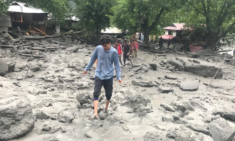 Pictures shared on social media showed the debris of the destroyed houses, while it appeared that some other structures had been entirely swept away by the flood in the stream. — Photo by author