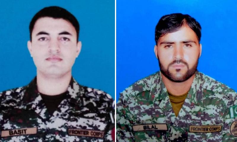 This combination photo shows Captain Basit (L) and Sepoy Hazrat Bilal (R). — Photo courtesy ISPR