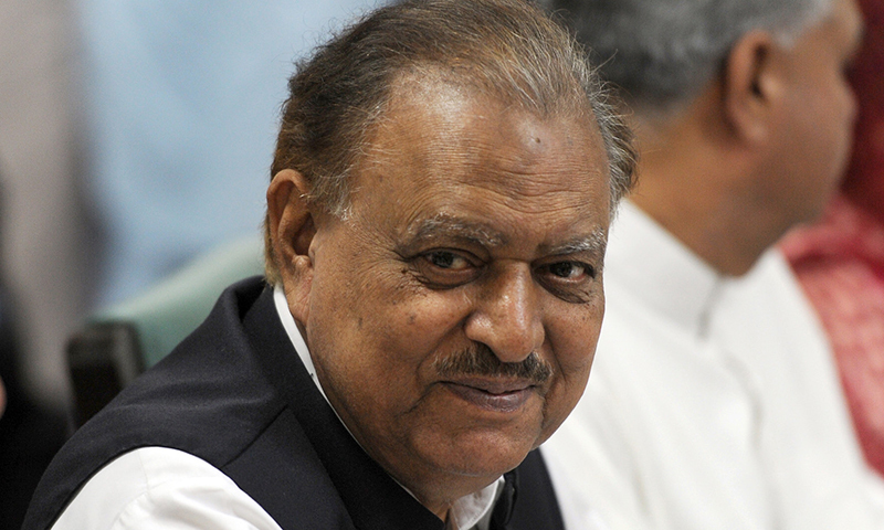 Former president Mamnoon Hussain served in the office between September 2013 and September 2018. — AFP/File