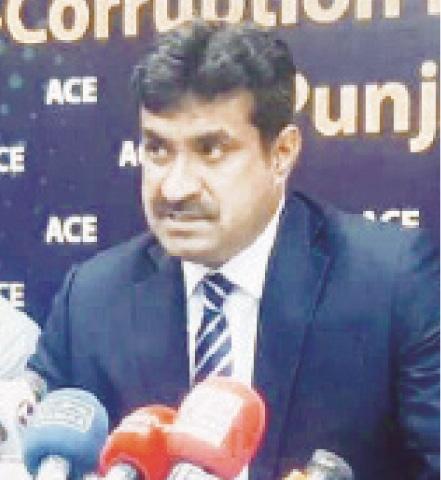 ACE Director General Gohar Nafees addresses a press conference.