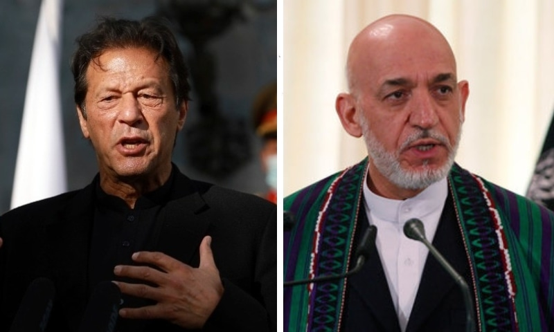 This combo photo shows Prime Minister Imran Khan (left) and former Afghan president Hamid Karzai. — Photos AP/Reuters