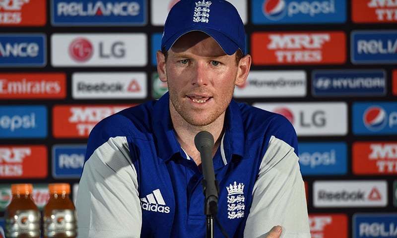 In this file photo, England's captain Eoin Morgan speaks at a press conference at Melbourne Cricket Ground (MCG). — AFP/File