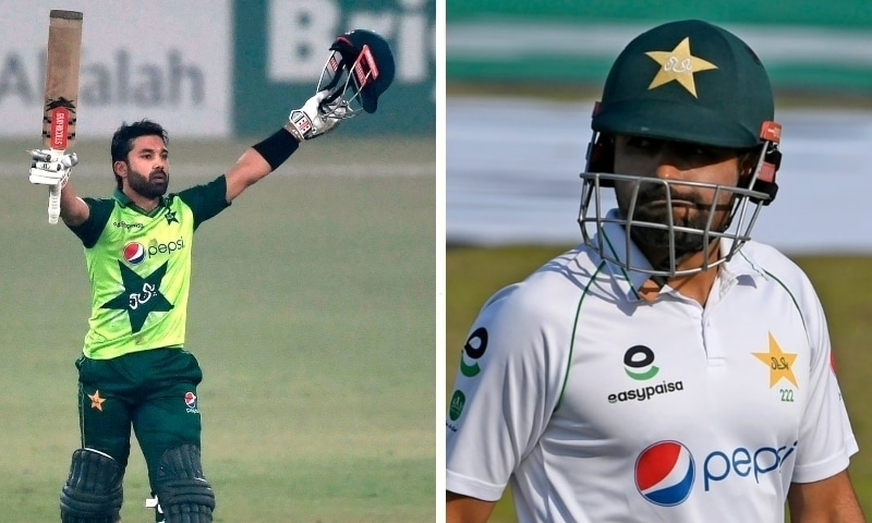 This combo photo shows Babar Azam and Mohammad Rizwan (left). — Photos PCB/AFP