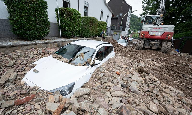 جرمنی سمیت مغربی یورپ میں بارش اور سیلاب سے تباہی، 50 افراد ہلاک