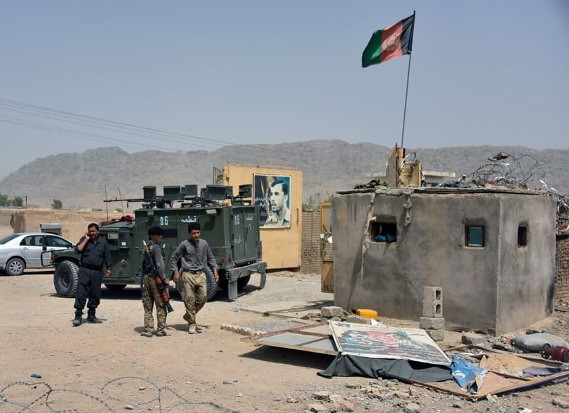 In this file photo, Afghan security forces inspect the site of a car bomb attack in Kandahar, Afghanistan on July 6, 2021. — Reuters/File