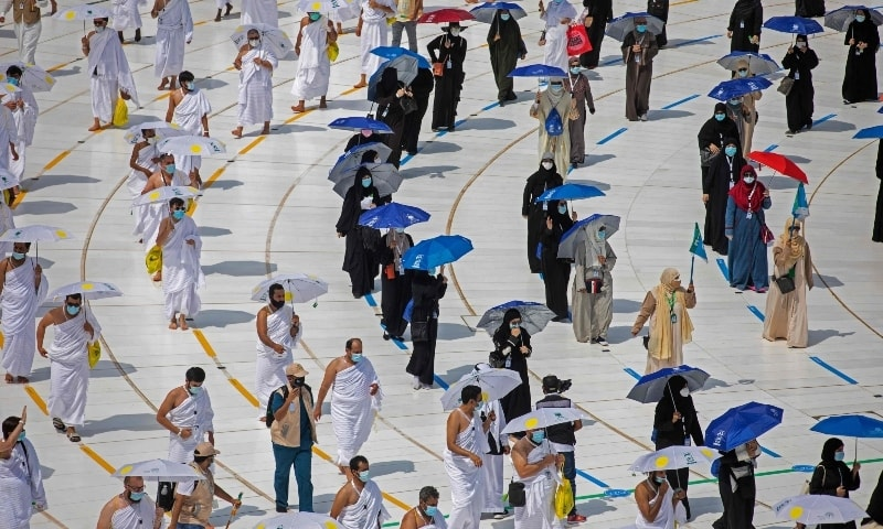 Some 60,000 Saudi residents with vaccine certificates will join this year's religious pilgrimage. — AFP