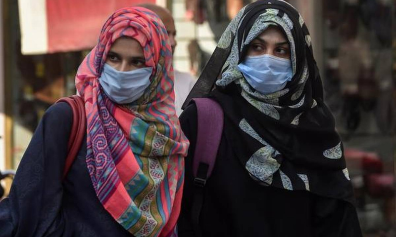 A senior official of the health department told Dawn on the request of anonymity that the virus spread 100 times faster than those reported during the last three waves of Covid-19 in Punjab. — AFP/File